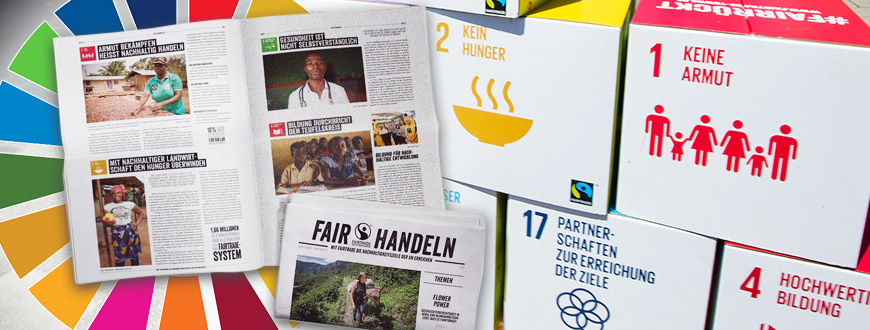 "Symbolbild / Collage| Materialien zu ""Fairtrade und die SDGs"""