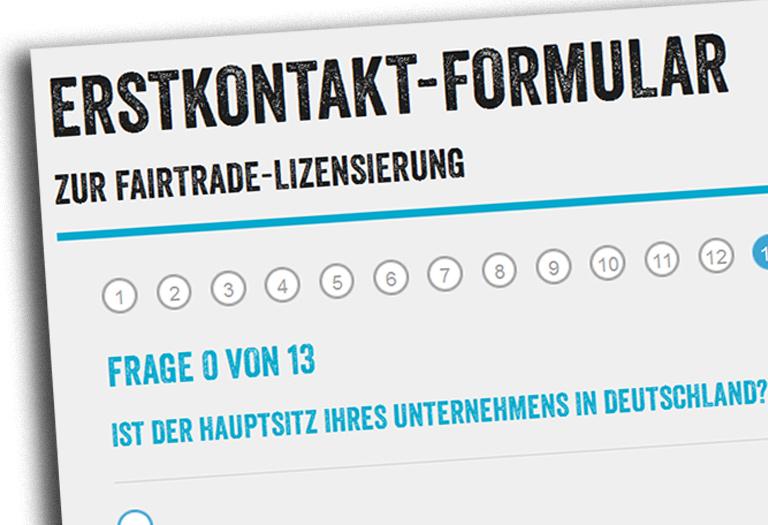 Erstkontakt-Formular   Fairtrade - Deutschland