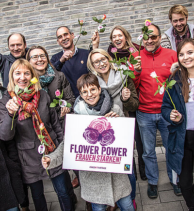Flower Power – Aktion von Fairtrade zu fair gehandelten Rosen